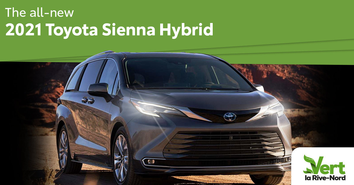 The All-new 2021 Toyota Sienna Hybrid. A grey Sienna