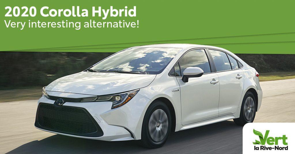 The 2020 Corolla Hybrid a very interresting alternative! A white Corolla