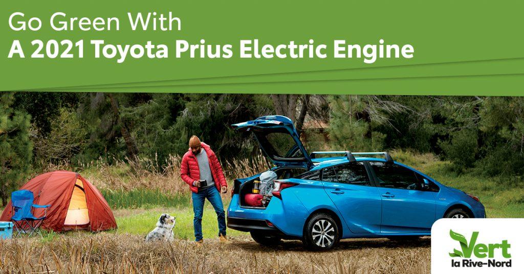 Prius Electric blue around camping