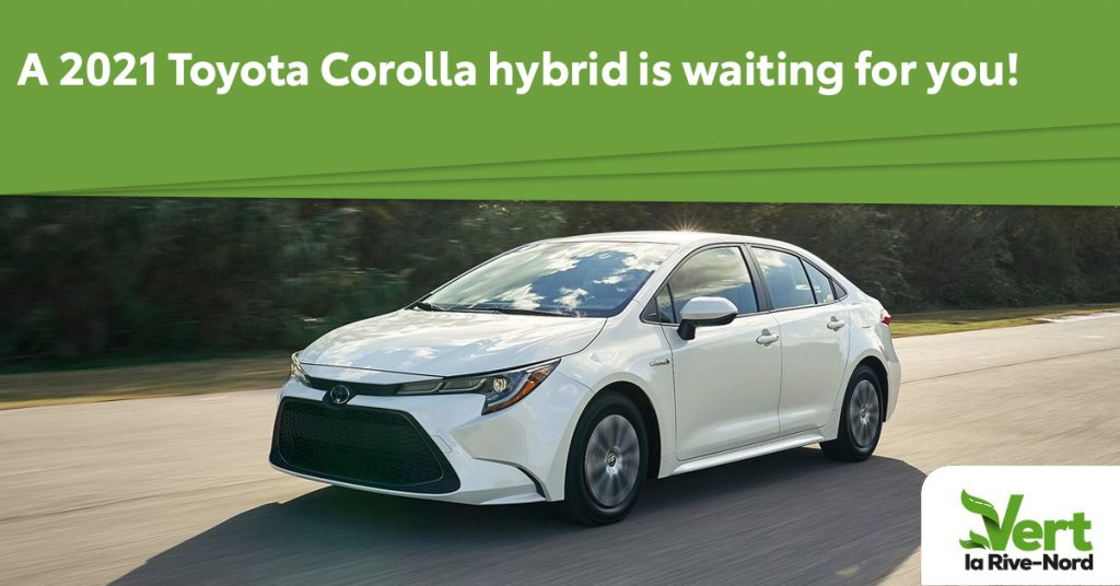 A white Corolla Hybrid