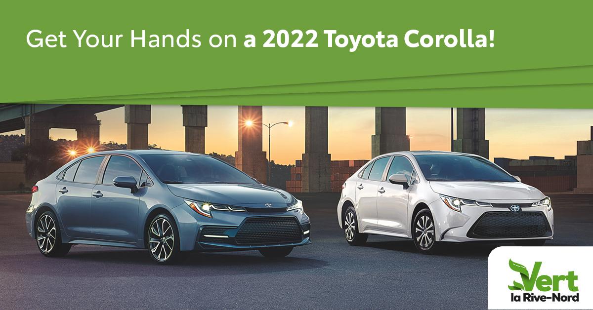 two 2022 Corolla